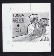 Tonga Nurse Children Book Dog Chien Black Proof MNH 1V ** - Tonga (1970-...)