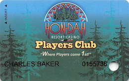 Hon-Dah Resort Casino - Pinetop, AZ - Slot Card - Players Club - Casino Cards