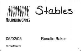 Stables Casino Maimi, OK - Multimedia Games Slot Card - Casino Cards