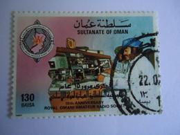 OMAN    USED   STAMPS  ANNIVERSARIES RADIO - Oman