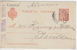 Ganzsache Aus SANTIAGO 30.6.14 Nach Iserlohn - Briefe U. Dokumente