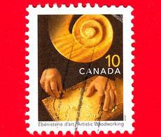 CANADA - USATO - 1999 - Mestieri Tradizionali - Artigianato - Ebanisteria - Falegnameria Artistica (Ebénisterie) -  10 - Usados