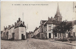 77, Seine Et Marne,GUIGNES,Les Rues De Troye Et De La République,Scan Recto-Verso - Other Municipalities