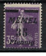 MEMEL         N°  YVERT  65  NEUF AVEC CHARNIERES   ( Charn  2/18 ) - Unused Stamps