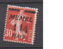 MEMEL         N°  YVERT  68  NEUF AVEC CHARNIERES   ( Charn  2/18 ) - Unused Stamps