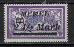 MEMEL         N°  YVERT  71  NEUF AVEC CHARNIERES   ( Charn  2/18 ) - Unused Stamps
