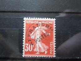 VEND BEAU TIMBRE PREOBLITERE DE FRANCE N° 58 , SANS GOMME !!! (b) - 1893-1947
