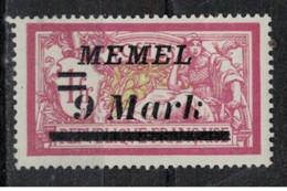MEMEL         N°  YVERT 74 A   NEUF AVEC CHARNIERES   ( Charn  2/19 ) - Unused Stamps
