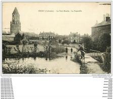 14 ORBEC. La Passerelle Du Petit Moulin 1926 - Orbec