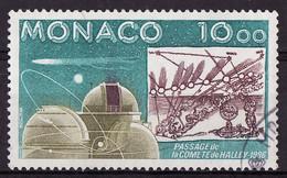 Espace 1986 Monaco Y&T N°1536 - Michel N°1761 (o) - 10f Comète De Halley - Europe