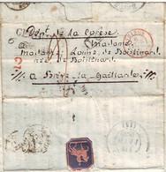 Lettre De GENEVE Suisse 1839 Pour BRIVE Correze SUPERBE FERMETURE Messager Romain, Texte De 3 Pages - 1801-1848: Précurseurs XIX