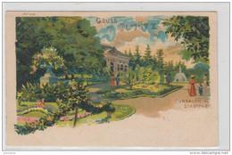 "AK - Tschechien - Kunstkarte - Gruss Aus Olmütz - Stempel ""Ziegenhals"" 1900 - República Checa"