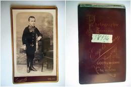 PHOTO CDV 19 EME JEUNE GARCON COMMUNIANT  Cabinet ENGELS  A GOUY S BELLONNE - Old (before 1900)