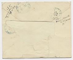 CHINA CUSTOMS SHANGHAI FRONT COVER DEVANT LETTRE FRANCE SAGE 15C SHANG HAI 23 DEC 1893 LEGATION BELGIQUE - Briefe U. Dokumente