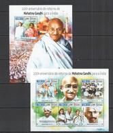 ST1055 2015 GUINE GUINEA-BISSAU ANNIVERSARY RETURN MAHATMA GANDHI TO INDIA KB+BL MNH - Mahatma Gandhi