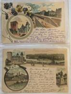 Lot De 2 Cartes -souvenir De Pau-363 364 - Gruss Aus.../ Gruesse Aus...