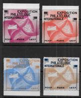 Exposition Philatélique  PEXIP 1937 - Série De 4vignettes - Expositions Philatéliques