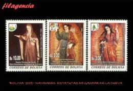 AMERICA. BOLIVIA MINT. 2001 NAVIDADES. ESTATUAS DE GASPAR DE LA CUEVA - Bolivia
