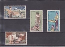 CULTURE DU RIZ NEUF * UNE SéRIE DE 4 VALEURS N° 40/43 YVERT ET TELLIER 1957 - Laos