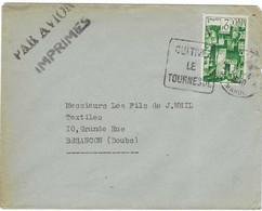 "1940 ? / Enveloppe Maroc / Tarif Imprimés + Par Avion / Daguin ""Cultivez Le Tournesol""/ Timbre 2 F - Briefe U. Dokumente"