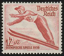 601X Olympische Winterspiele 12+6 Pf ** Skispringen - Sin Clasificación