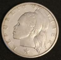 LIBERIA - 25 CENTS 1960 - Argent - Silver - KM 16 - Liberia