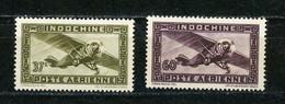 INDOCHINE RF - POSTE AERIENNE - N° Yvert 30+31 (*) - Poste Aérienne