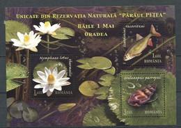 293 - ROUMANIE 2008 - Yvert BF 362 - Nenuphar Poisson Escargot - Neuf ** (MNH) Sans Trace De Charniere - Nuevos