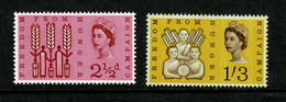 Ref 1476 - GB QEII 1963 - Freedom From Hunger (Phosphor) MNH Set Of Stamps - Ungebraucht