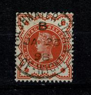 Ref 1476 - GB 1887-1892 QV - 1/2d Used Stamp - Freshwater Station I.O.W. Postmark - Usati