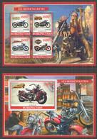 PE1099 2019 MOTORCYCLES MOTOS TRANSPORT BL+KB MNH - Moto