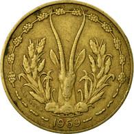 Monnaie, West African States, 10 Francs, 1969, TTB, Aluminum-Nickel-Bronze - Ivory Coast