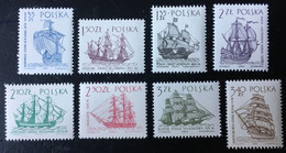 POLOGNE 1964 SERIE COURANTE NAVIRES MI 1465 / 1472 ** - Unused Stamps