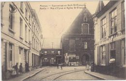 Menen - Ypernstraat En Kerk St-François (gelopen Kaart Met Prachtige Feldpoststempel Uit 1915) - Menen