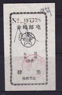 CHINA CHINE CINA  MONGOLIA CHIFENG 024000  ADDED CHARGE LABEL (ACL)  0.40 YUAN - Non Classificati