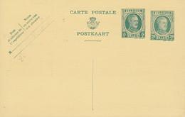 Belgium Postal Stationery Ganzsache Entier 1926,  5c. Neben 20c. Albert I. (Unused) - Postales [1909-34]