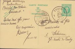 Belgium Postal Stationery Ganzsache Entier 30c. Albert I. THUIN 1927 Schieren ETTELBRUCK (Arr.) Luxembourg - Postales [1909-34]