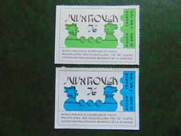 Belle Paire De Vignettes émises Pour Juvarouen 1976 - Expositions Philatéliques