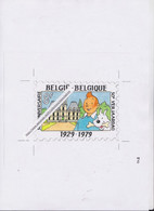 TINTIN ET MILOU 1929-1979 Avant-projet De Timbre + 2 Lettres D'Hergé En Date Du 13 Mars 1979 - Comics