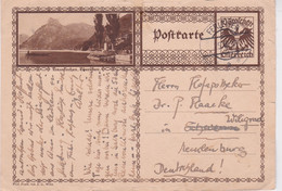 """Austria-1928 10 Gr Dark Brown Postal Stationery """"Traukirchen Scene"""" Postcard Ferleiten Cover To Germany - Cartas"""
