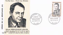 FRANCE F.D.C  N°1248. Debeaumarchais.P.J. 26.03.1960. Dijon - 1960-1969