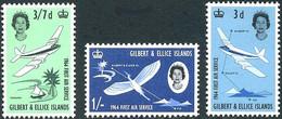 Gilbert Ellice 1964 First Air Service De Havilland Heron (stylized) (Yvert 77/79 Mi 78/79 Gibbons 82 / 84) - Aerei