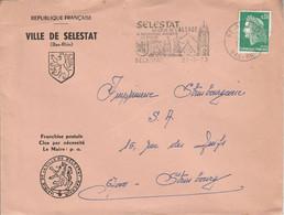 LETTRE DE MAIRIE DE SELESTAT BAS RHIN - 1961-....