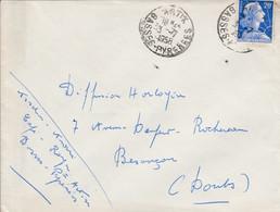 MULLER SUR LETTRE DE ARTIX BASSES PYRENEES 1958 - 1961-....