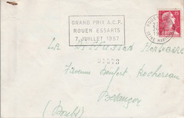 MULLER SUR LETTRE GRAND PRIX ACF ROUEN 1957 - 1961-....
