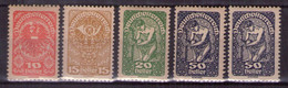 Österreich 1919 Mi.-Nr. 260y - 271ya + Yb Postfrisch ** (A25-063) - Nuevos