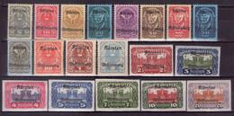 Österreich 1920 Mi.-Nr. 321 - 339 Postfrisch ** (Mi.42€)(A25-064) - Nuevos