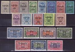 Österreich 1920 Mi.-Nr. 340 - 359 Postfrisch ** (Mi.40€)(A25-065) - Nuevos