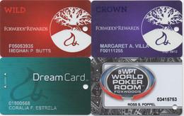 Lot De 4 Cartes : Foxwoods Resort Casino : Ledyard CT - Casino Cards
