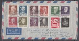 Berlin 1952-1953,Mi.  91-100+110-111,auf Brief Nach Holland,SpStempel 2. Int. Fahrrad Und Motorrad Austellung(D2937) - Cartas
